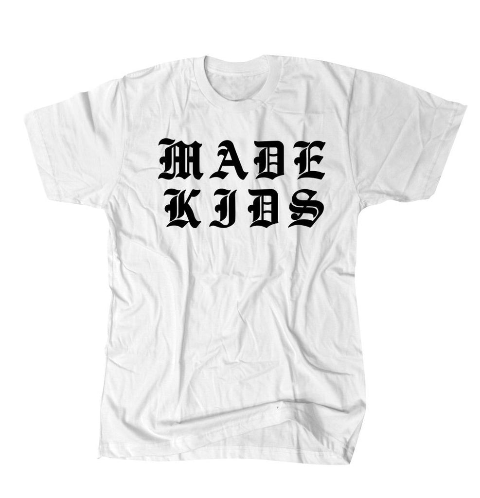 Made Kids Old English - White