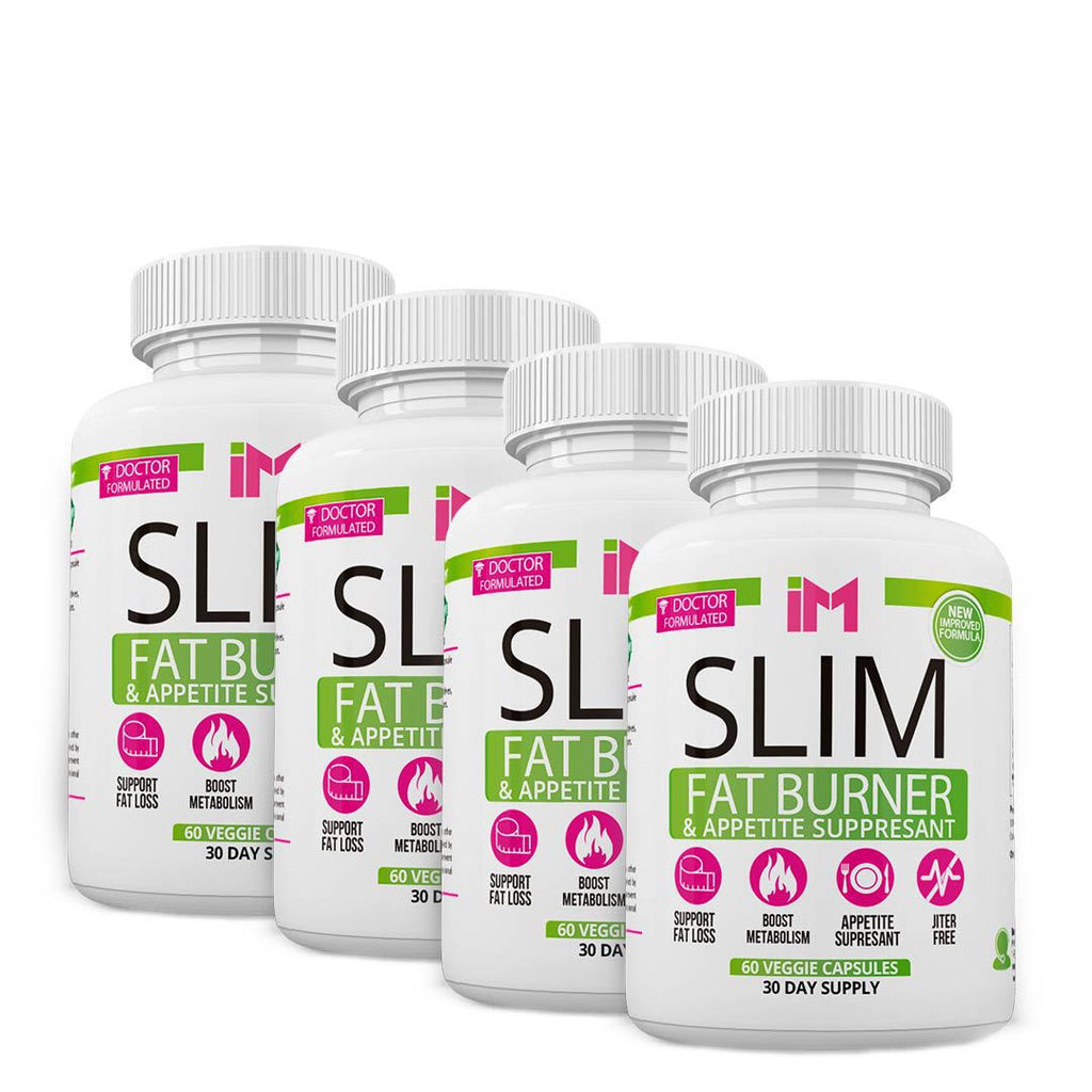 IM Slim Fat Burner & Appetite Suppresant - 4 Frascos