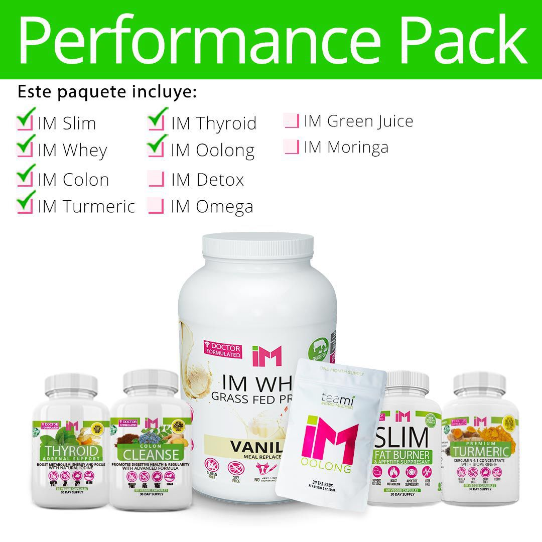 Performance Pack - IM Slim, IM Oolong, IM Turmeric, IM Colon, IM Thyroid, IM Whey