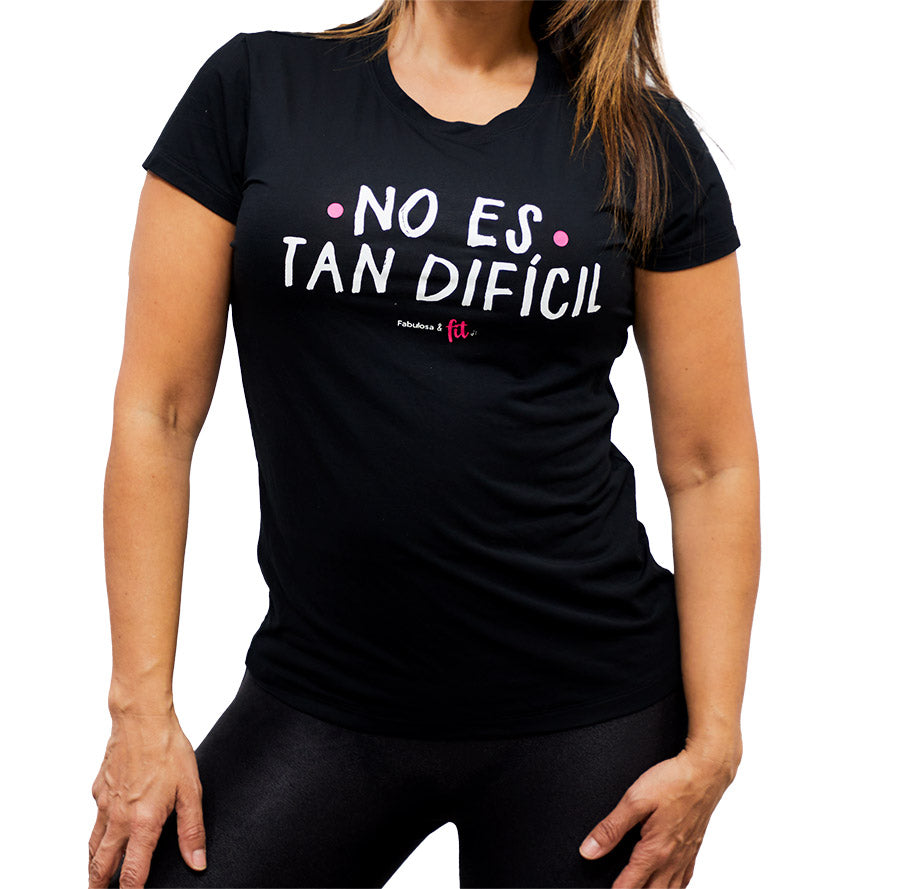 Camiseta: Fabulosa y Fit - No es tan Dificil (Short Sleeve Shirt)
