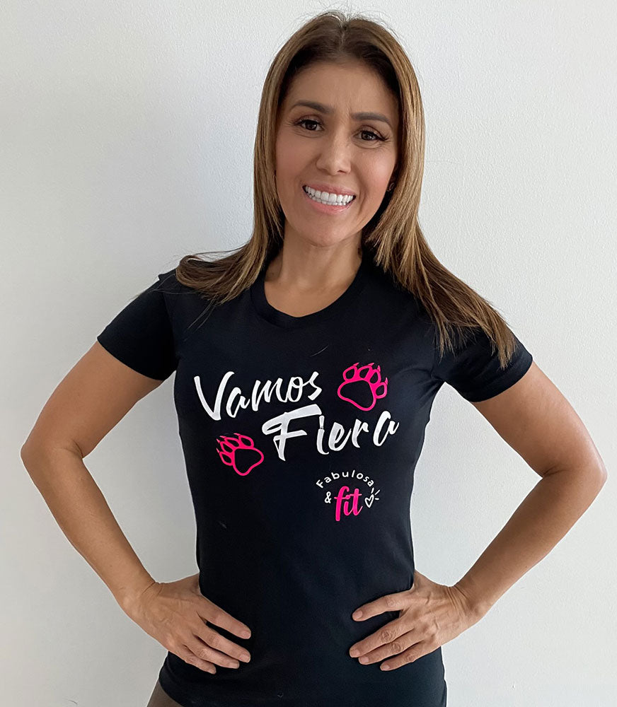 Camiseta: Fabulosa y Fit - Vamos Fiera (Short Sleeve Shirt)