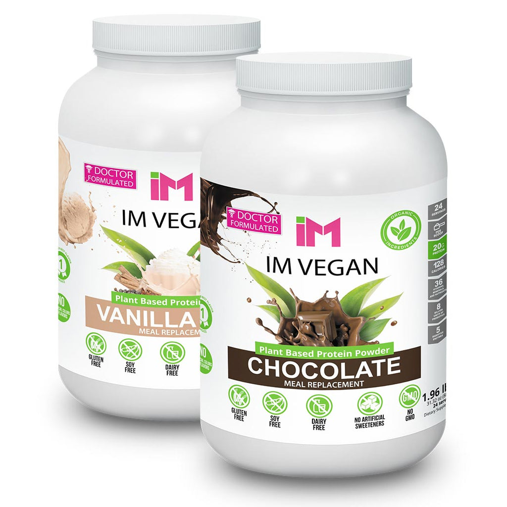 IM Vegan Plant Based Protein Powder - 2 Botellas