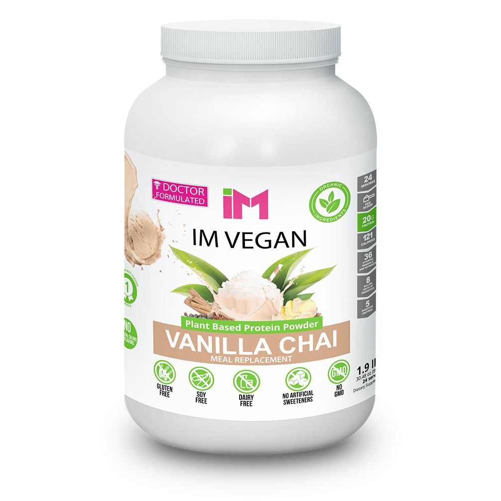 IM Vegan Plant Based Protein Powder - 3 Botellas