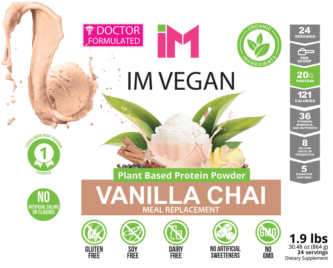 IM Vegan Plant Based Protein Powder - 3 Botellas - OTO