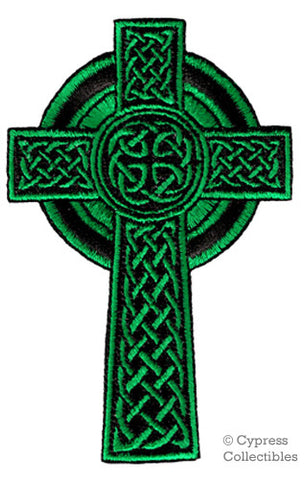 GREEN CELTIC CROSS PATCH