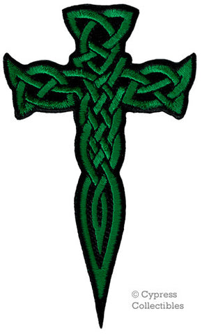 GREEN CELTIC DAGGER PATCH