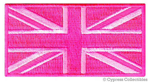 PINK UK FLAG UNION JACK PATCH