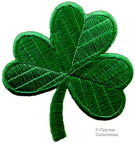 EMBROIDERED CLOVER SHAMROCK PATCH