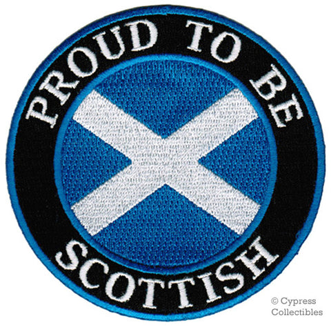 PROUD to be SCOTTISH EMBROIDERED PATCH