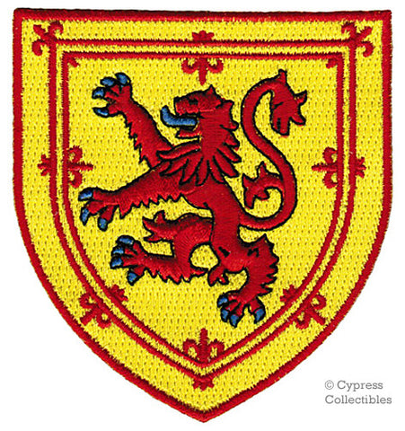 SCOTLAND LION RAMPANT SHIELD PATCH