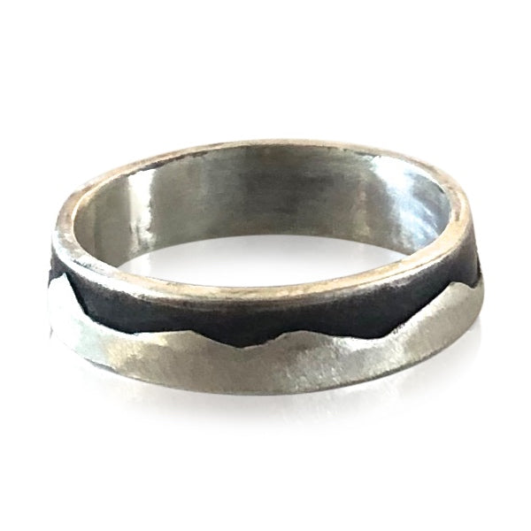 R7 - Sterling Silver Woman's  Mountain Ring. Custom Sizing; Price May Vary