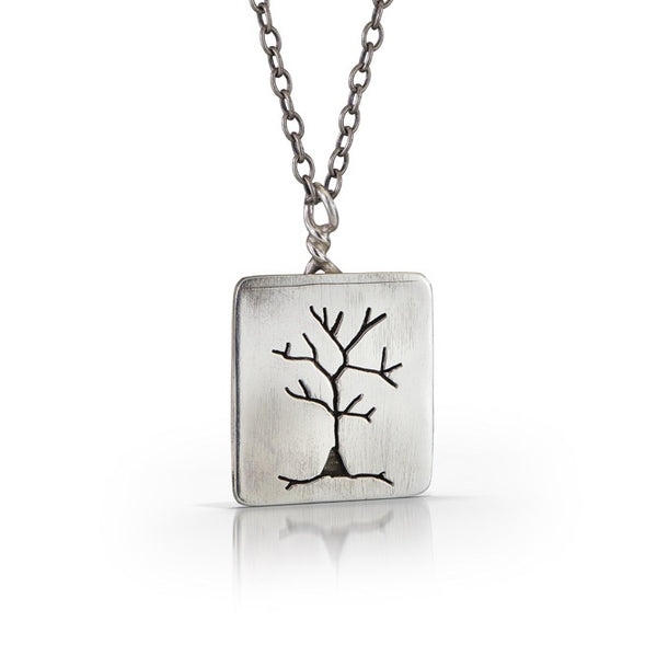 NS5 - Sterling Silver Tree Necklace