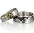 R8 - Sterling Silver Wide Band Mountain Ring. Custom Sizing; Price May Vary