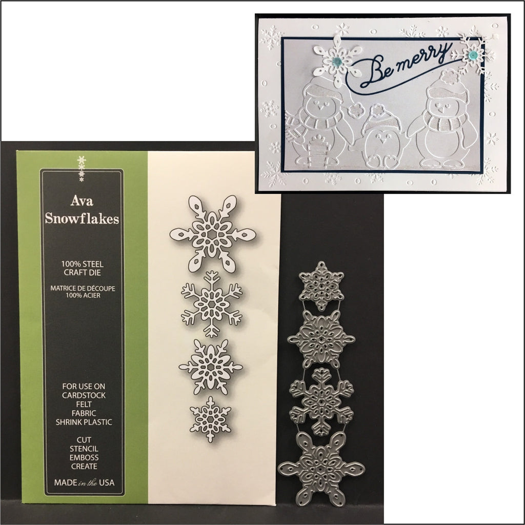 Ava Snowflakes Metal Die Cuts Poppystamps Cutting Dies