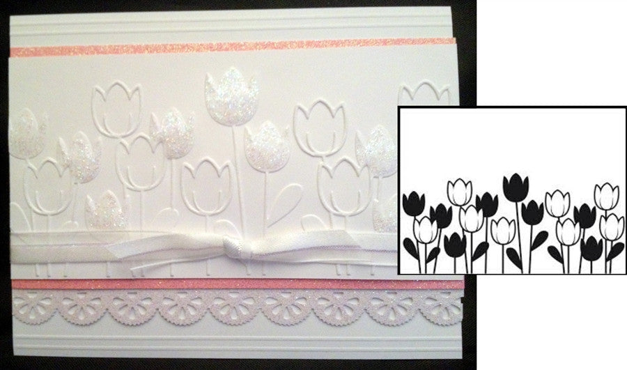 SPRING TULIP Embossing Folder By DARICE 1218-44 - Inspiration Station Scrapbook Store & Retreat