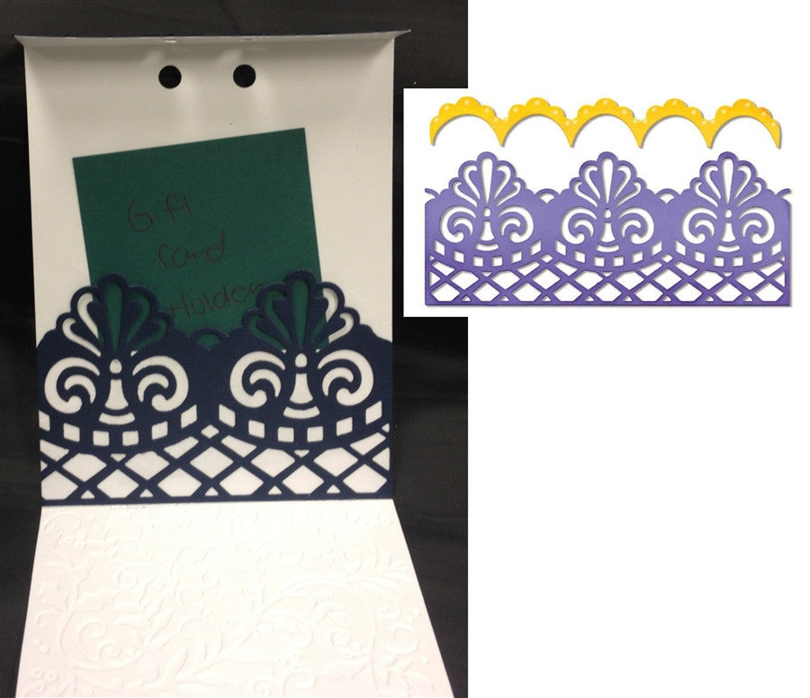 Damask & Scallop Borders Die Cut Set by Sizzix 658945 - Inspiration Station Scrapbook Store & Retreat