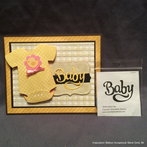 Baby Word metal die cut by Serendipity craft cutting Dies 023CD - Inspiration Station Scrapbook Store & Retreat