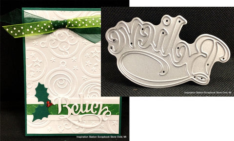 Believe Metal Die Cut by Impression Obsession Serendipity Cutting Dies - Inspiration Station Scrapbook Store & Retreat