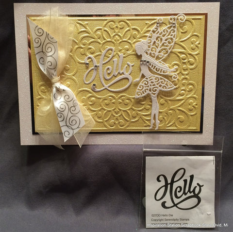 HELLO by SERENDIPITY STAMPS Die 027DD - Inspiration Station Scrapbook Store & Retreat