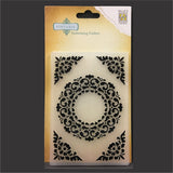 Ornament Frame embossing folder by Nellie's Choice craft folders VINF007