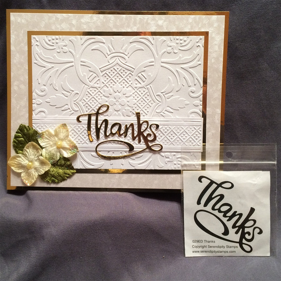 THANKS by SERENDIPITY STAMPS Die 029ED - Inspiration Station Scrapbook Store & Retreat
