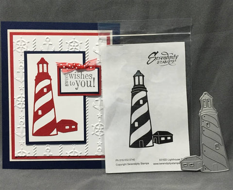 LIGHTHOUSE Die by SERENDIPITY STAMPS 031ED - Inspiration Station Scrapbook Store & Retreat