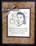 Coffee Midge FBP012 Cling Stamp by Riley and Company - Inspiration Station Scrapbook Store & Retreat