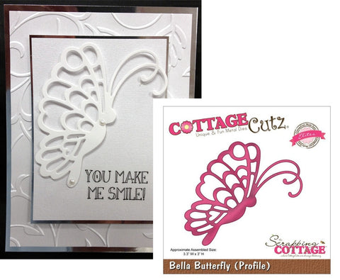 Bella Butterfly (Profile) Die Cut By Cottage Cutz CCE-001 - Inspiration Station Scrapbook Store & Retreat