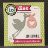 Stork and Baby Metal Die Set by Impression Obsession Dies DIE167-J - Inspiration Station Scrapbook Store & Retreat