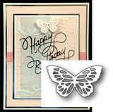 ELSA BUTTERFLY by POPPY STAMPS Thin Metal Die Cut 1054 - Inspiration Station Scrapbook Store & Retreat