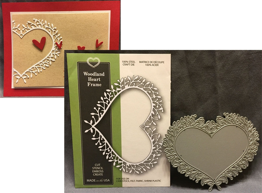 WOODLAND HEART FRAME die by Poppystamps dies 1122 - Inspiration Station Scrapbook Store & Retreat