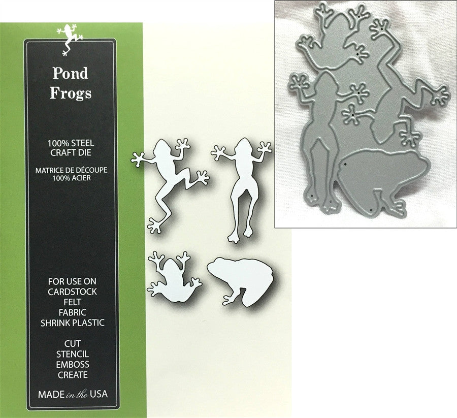 POND FROGS die set by POPPY STAMPS 1130 - Inspiration Station Scrapbook Store & Retreat