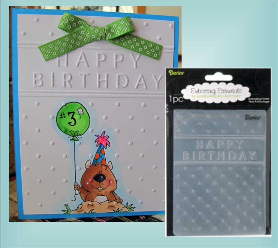 HAPPY BIRTHDAY Embossing Folder By DARICE 1215-45 - Inspiration Station Scrapbook Store & Retreat