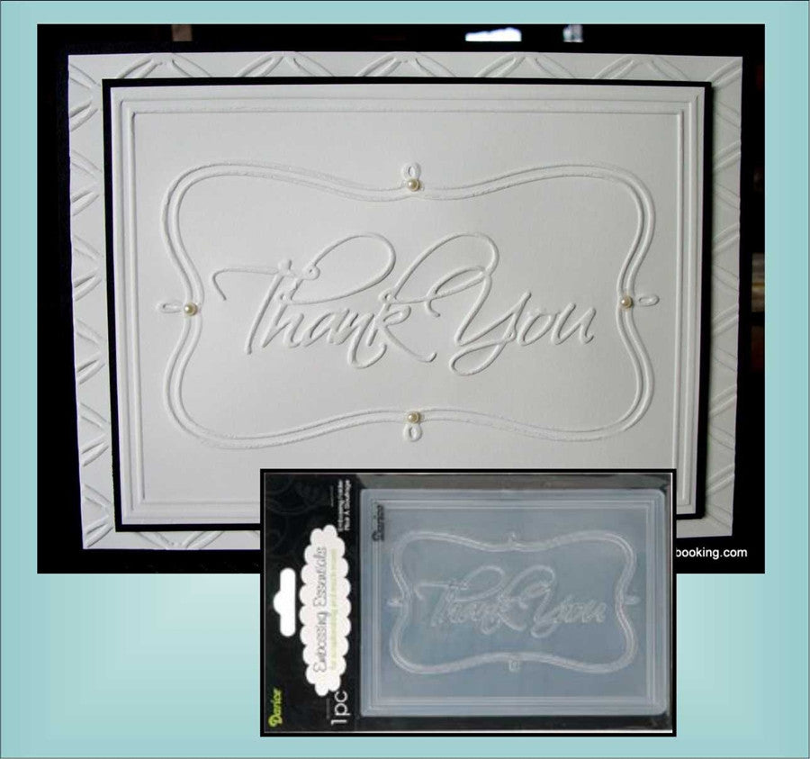 THANK YOU Embossing Folder By DARICE 1215-46 - Inspiration Station Scrapbook Store & Retreat