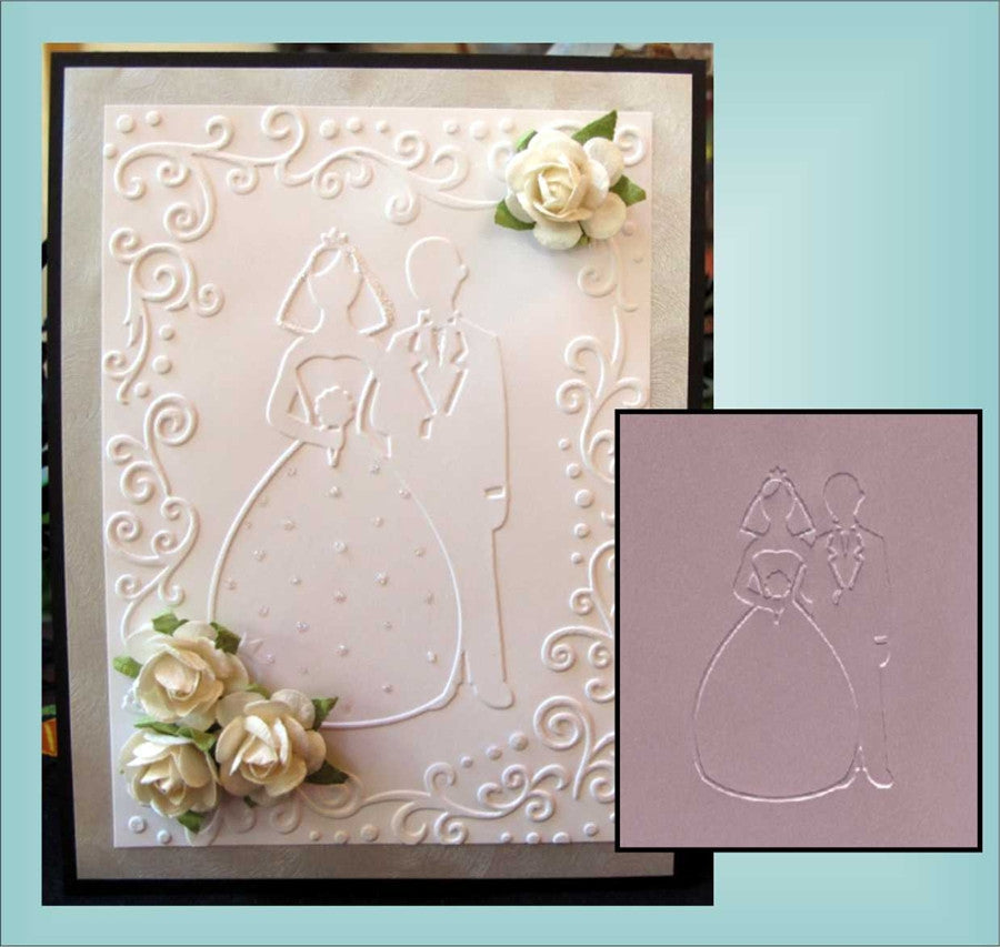 BRIDE & GROOM Embossing Folder By DARICE 1216-58 - Inspiration Station Scrapbook Store & Retreat