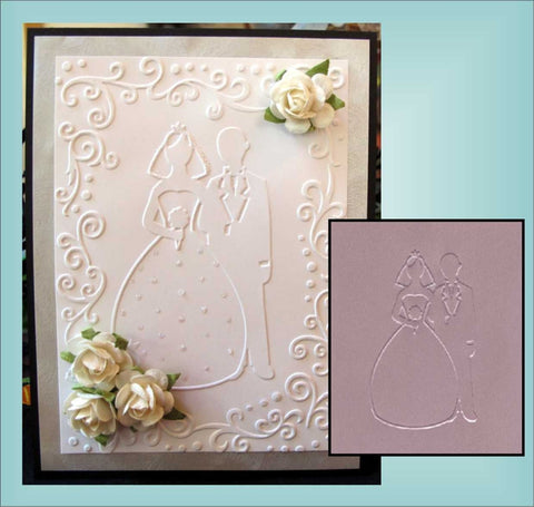 Bride and Groom Wedding Embossing Folder By Darice Craft Folders 1216-58 - Inspiration Station Scrapbook Store & Retreat