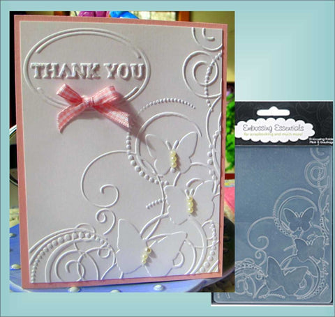 Butterfly Corner Embossing Folder By Darice Craft Folders 1216-64 - Inspiration Station Scrapbook Store & Retreat