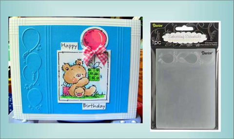 Balloon Border Embossing Folder By Darice Craft Folders 1217-52 - Inspiration Station Scrapbook Store & Retreat