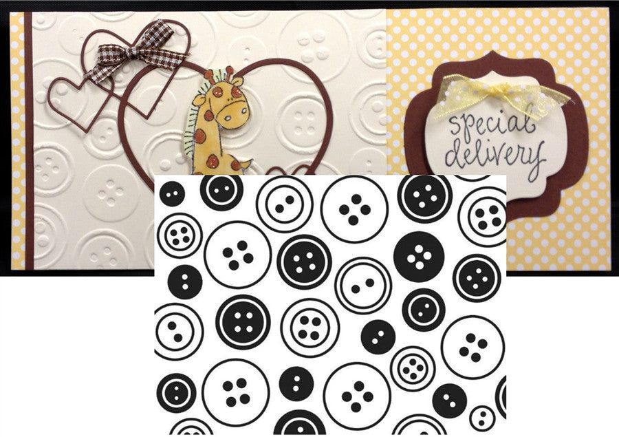 BUTTON BACKGROUND Embossing Folder By DARICE 1218-10 - Inspiration Station Scrapbook Store & Retreat