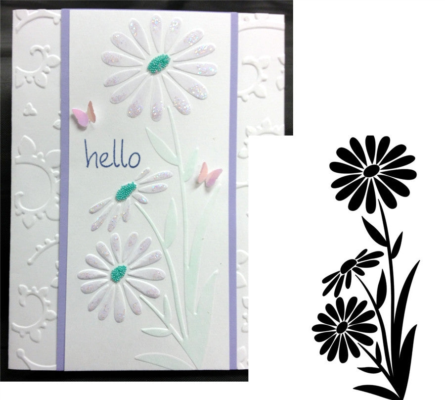 LARGE DAISY Embossing Folder By DARICE 1218-111 - Inspiration Station Scrapbook Store & Retreat