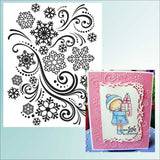 SNOW SWIRL Embossing Folder By DARICE 1218-39 - Inspiration Station Scrapbook Store & Retreat