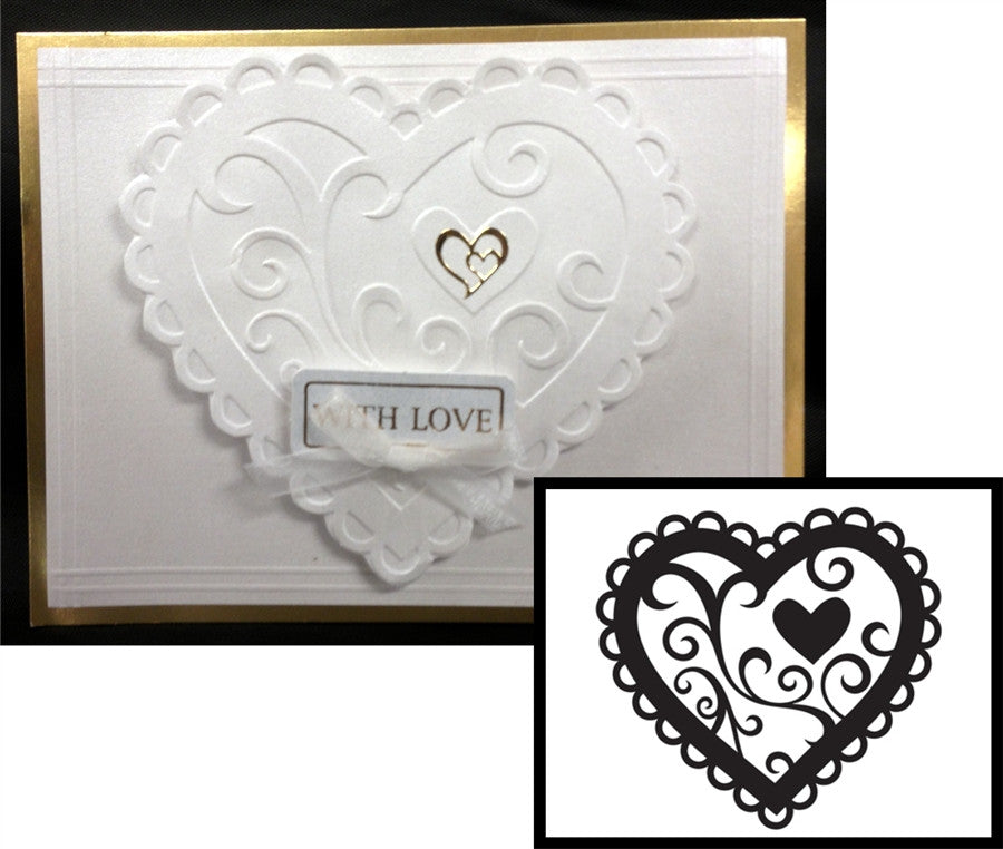 VALENTINE HEART Embossing Folder By DARICE 1218-46 - Inspiration Station Scrapbook Store & Retreat