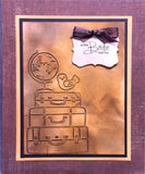 STACKED LUGGAGE Embossing Folder By DARICE 1219-233 - Inspiration Station Scrapbook Store & Retreat