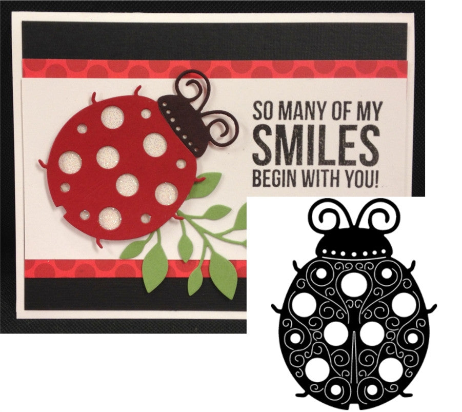Ladybug Thin Metal Die Cut by Serendipity Stamps - Inspiration Station Scrapbook Store & Retreat