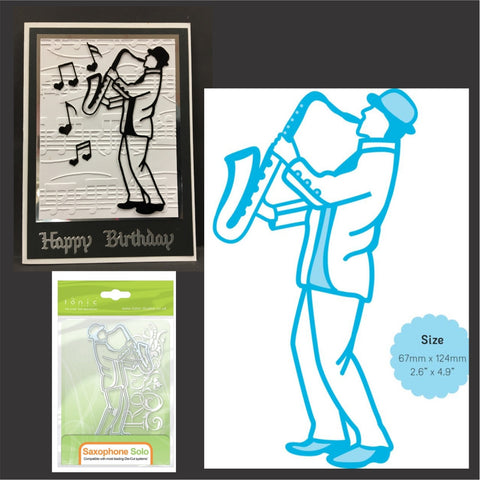 Saxophone Solo Metal Die by Tonic Studios Dies 1178E - Inspiration Station Scrapbook Store & Retreat