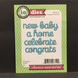 Congrats Word Set metal dies by Impression Obsession DIE430-U (baby,home,new,a,celebrate,congrats)
