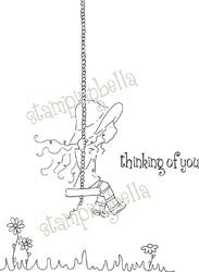 Matilda on Her Swing Rubber Stamp - Stamping Bella Stamp - Inspiration Station Scrapbook Store & Retreat