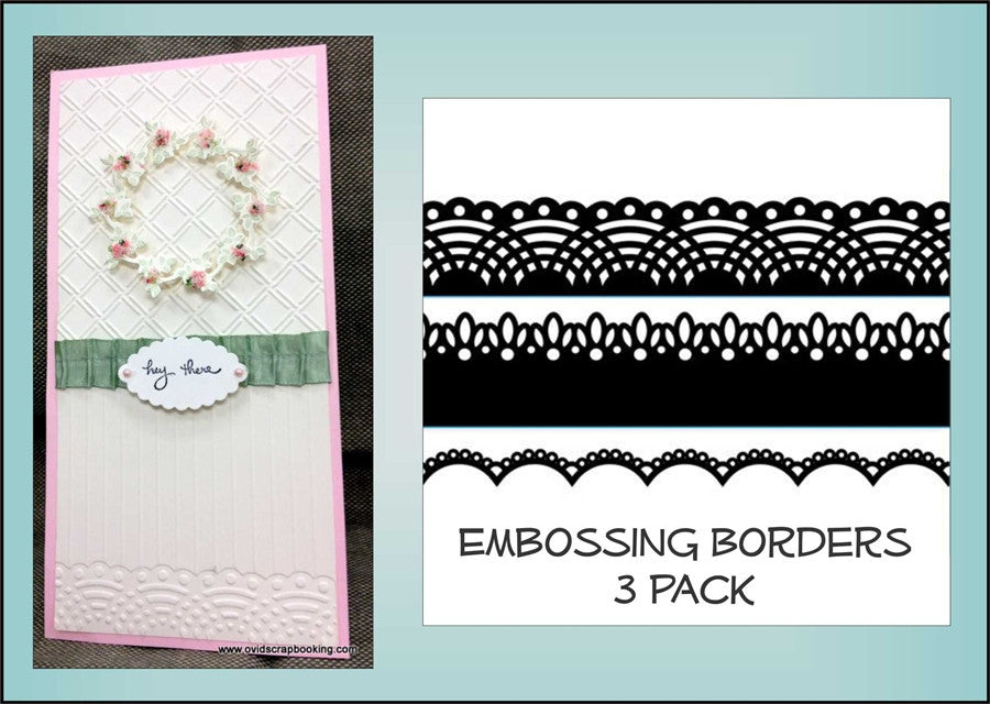 LACES Border 3 PK Embossing Folder Borders By DARICE 1217-76 - Inspiration Station Scrapbook Store & Retreat