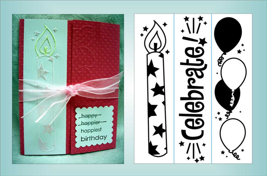 BIRTHDAY BORDER 3 PK Embossing Folders By DARICE 1217-79 - Inspiration Station Scrapbook Store & Retreat