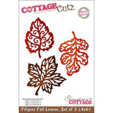 Filigree Fall Leaves Die Cut By Cottage Cutz - Inspiration Station Scrapbook Store & Retreat